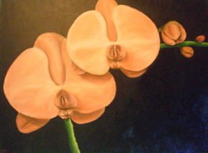 orchid 1 acrylic painting