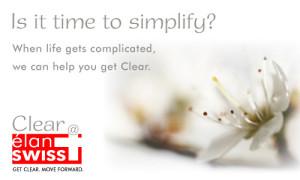 simplify elan swiss ad concept