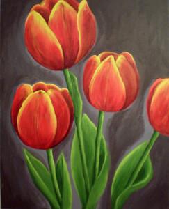 tulips 1 - acrylic painting